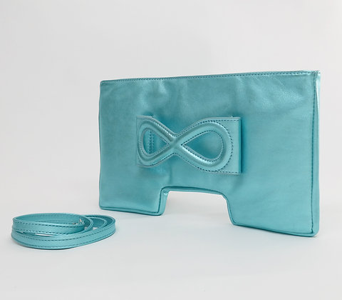 Clutch Iris Aqua metallic