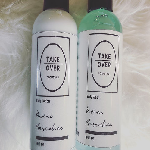 Divine Masculine body wash and lotion set