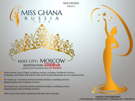 MISS GHANA RUSSIA 2019-BECOMING: REDEFINING BEAUTY