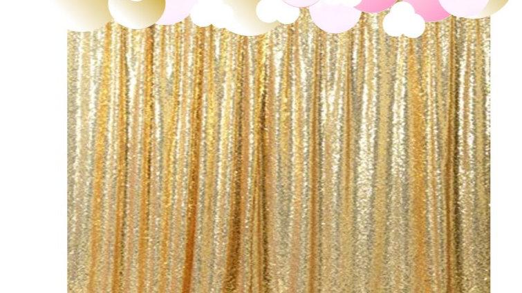 Sequin Backdrop & Balloon Garland