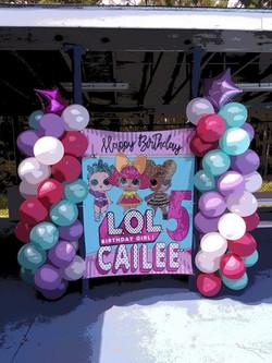 LOL Balloons & Backdrop