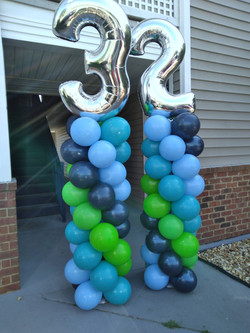 Balloon Columns with Numbers