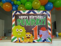Happy Birthday Monster Banner
