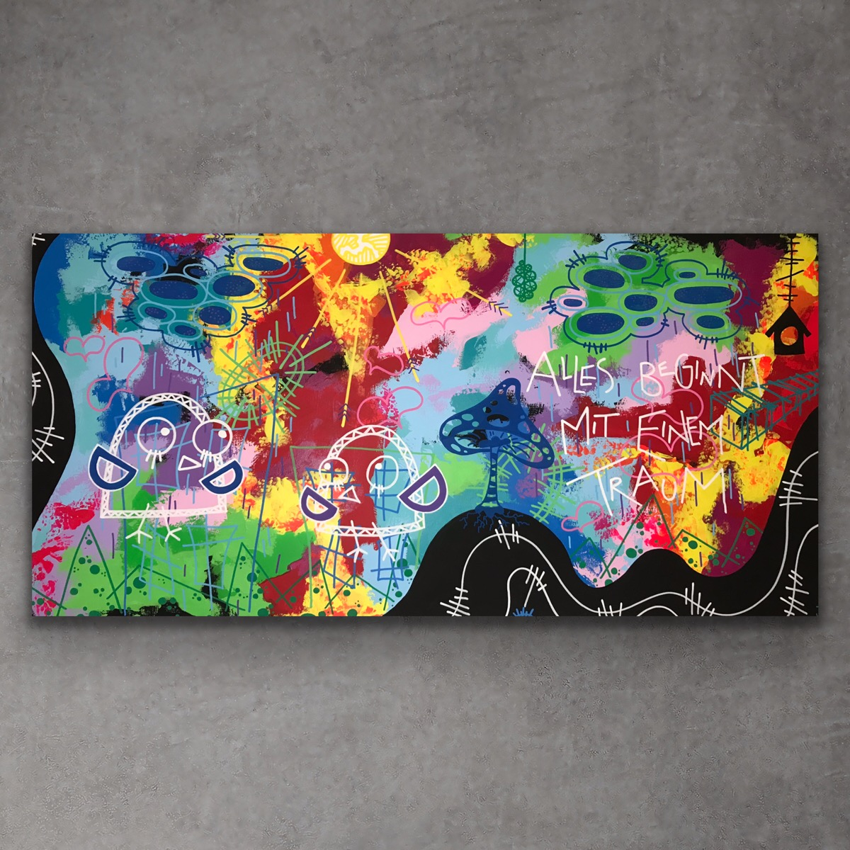 ALLES BEGINNT 60x120 cm - art by Jannie