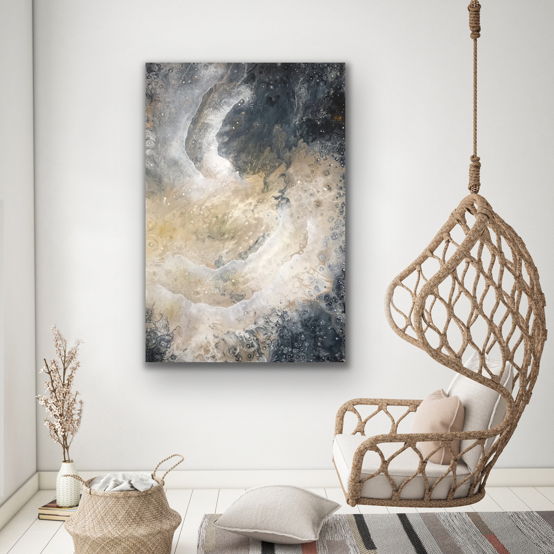 GALACTIC VIEW 120x80 cm - art by Jannie