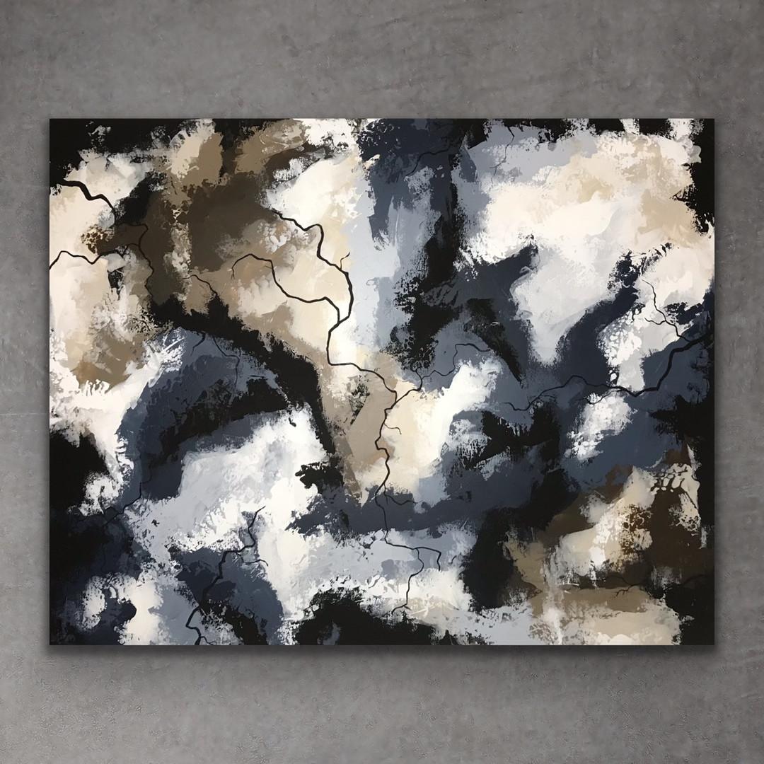 Calm blue 80x100 - art by Jannie Nyegaar