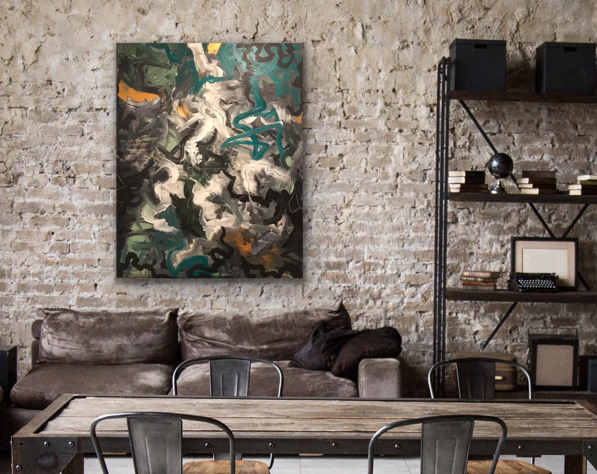 STRINGS - 100x80 - Art by Jannie Nyegaar