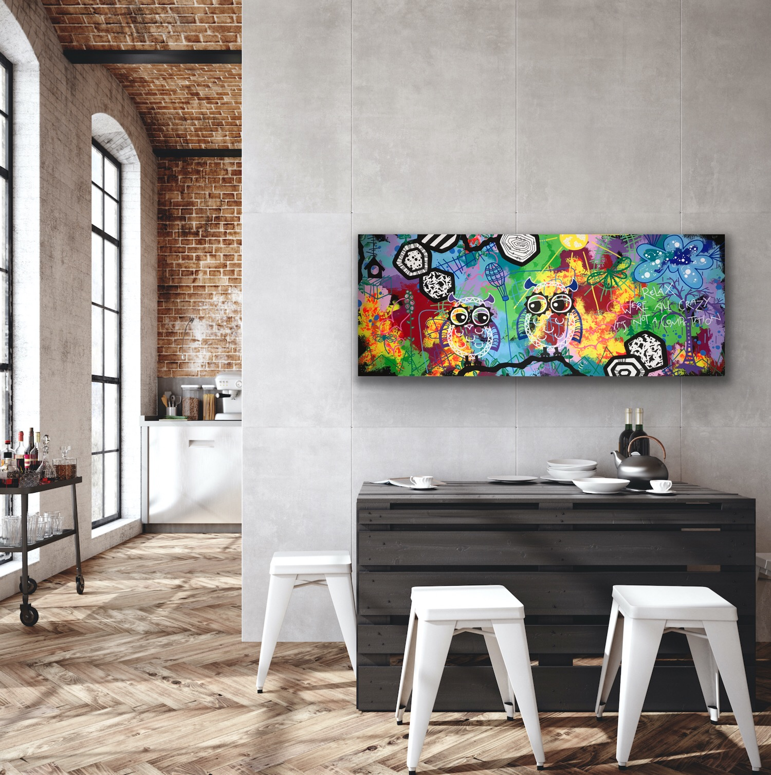 RELAX 50x125 - art by Jannie Nyegaard -