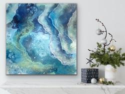 Blue Ocean 70x70 - artbyjannienyegaard -