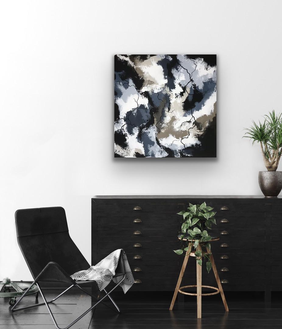 Calm blue 50x50 - art by Jannie Nyegaard
