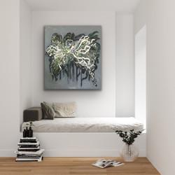 Flowing 01 - Art by Jannie Nyegaard - 100x80 - 07