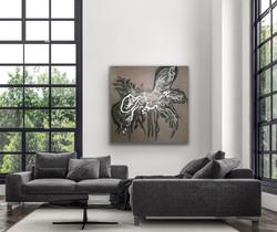 Flowing 02 - Art by Jannie Nyegaard - 100x100 - 07