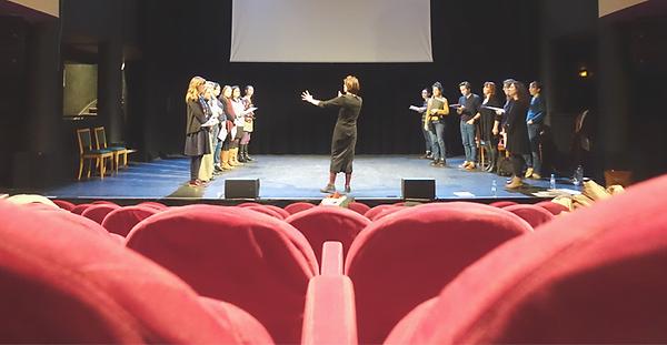 Stage pour les enseignants. Anne Mulpas, poète, pour la Maison de la Poésie de Paris.