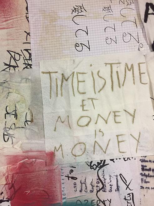 """Palimpsestes de la poète Anne Mulpas, série """"travail d'abord"""" réalisée avec une classe de 1ere SN du lycée professionnel d'Aulnay-sous-Bois pour la Maison de la Poésie de Paris 2019."""