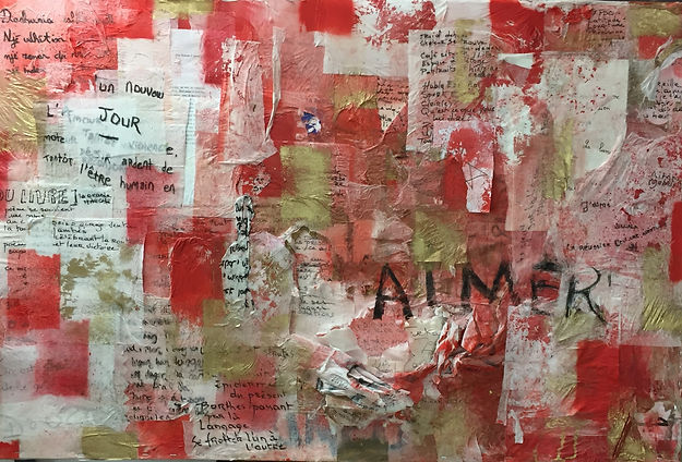 """Palimpsestes de la poète Anne Mulpas. Série """"exil"""" réalisée dans le cadre d'une résidence mission avec des mineurs isolés pour l'ALEFPA et la DRAC Nord - 2018."""