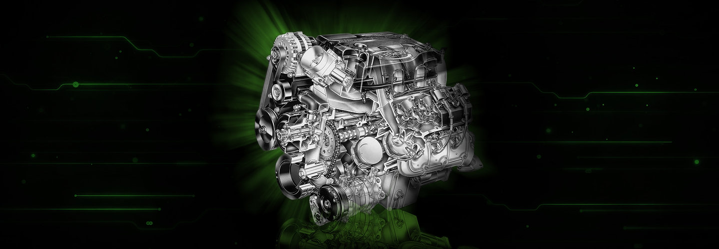 green vehicle engine