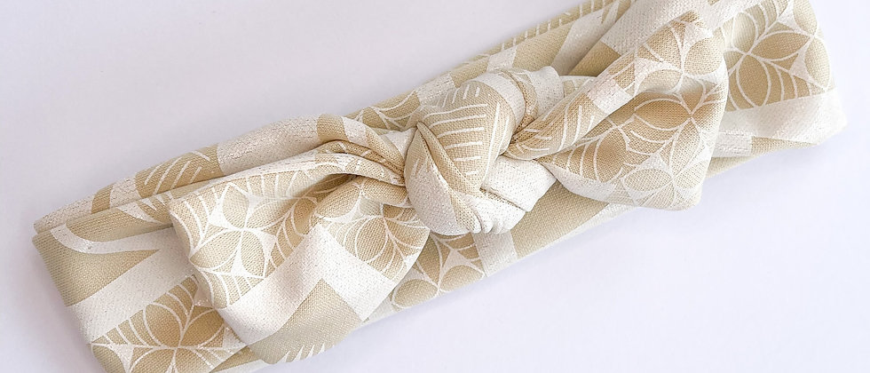Topknot headband (Beige)