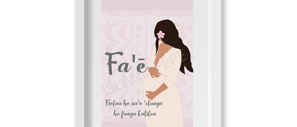 Fa'ē (Mother) A4 size