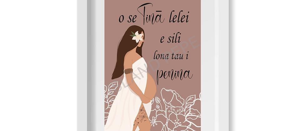 Tinā (Mother) Malu A4 size