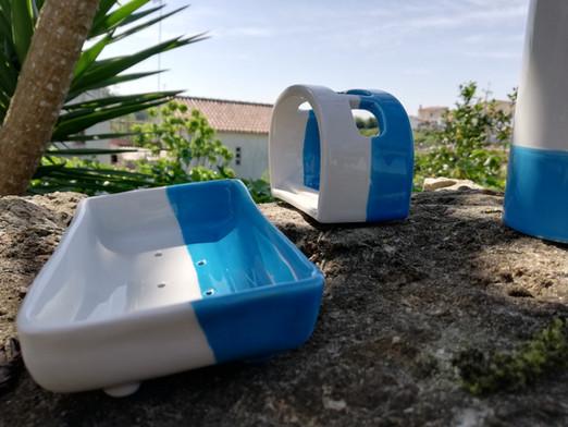 Badkamerset blauw