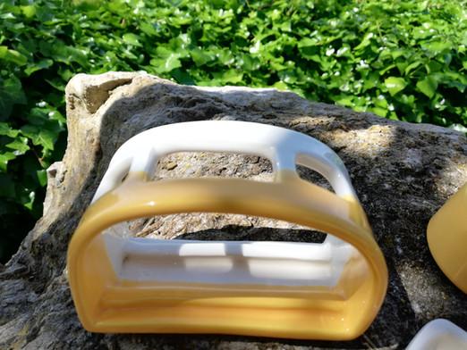 Tandenborstelhouderhouder geel