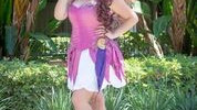 @MamaMainStreet as Megara featured in Disney Hollow at D23 by Glimmerwood