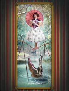 Cassie Wanda of @Glimmerwood as The Tightrope Walker