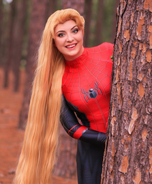 @MeganJaneArt as Spidey Rapunzel