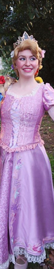 Sydney as Rapunzel in our special edition  GLEAM AND GLOW (light up) BRAID!