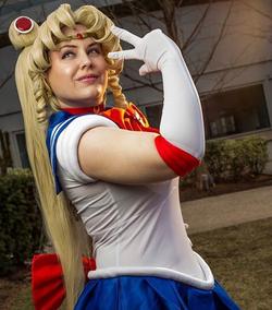 Christina as Sailor Moon