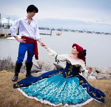 Robby and Ashton as Eric and Ariel