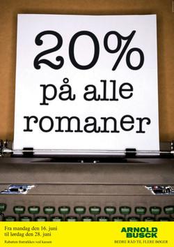 Tilbudskampagne på romaner