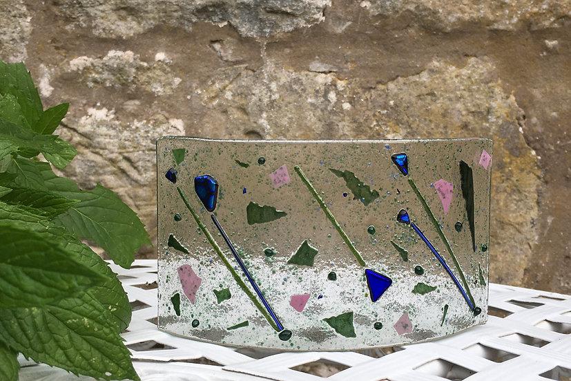 Botanical art glass curve