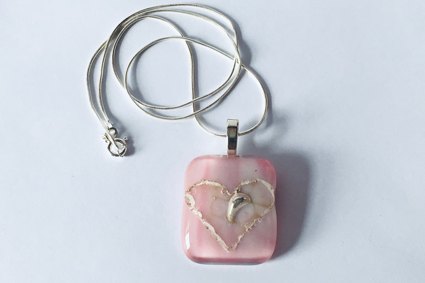 Bubble Gum Heart Pendant