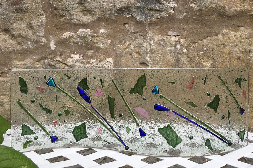 Botanical art glass wave