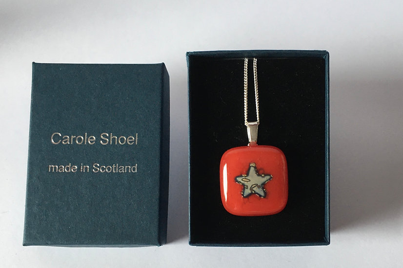 Burnished Silver Star Pendant
