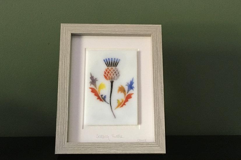 Scottish Thistle No.3 art glass panel