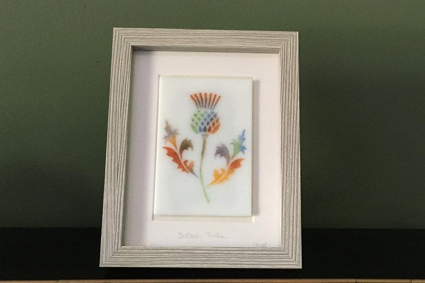Scottish Thistle No.4 art glass panel