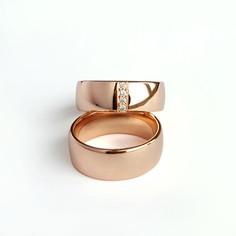 Laulību gredzeni ar briljantu joslu sievietes gredzenā