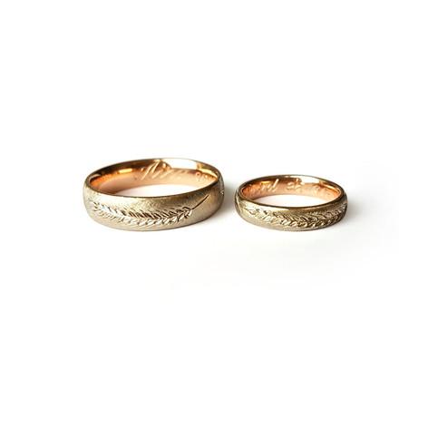 Laulību gredzeni ar ārējo gravējumu