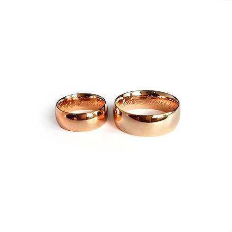 Klasiski laulību gredzeni ar noapaļotām jeb sfēriskām malām