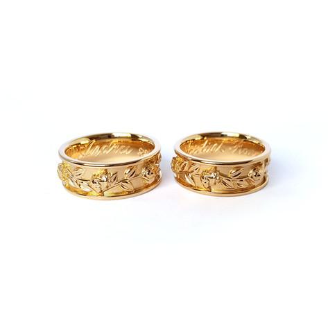 Laulību gredzeni ar ornamentu