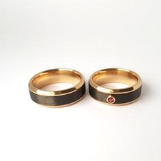 Laulību gredzeni ar karbonu