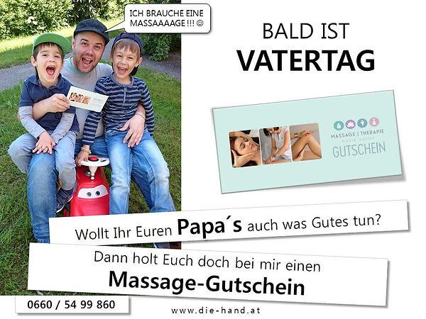 Gutschein Vatertag Massage Nadja Gazov Altenberg bei Linz - Heilmassage
