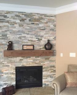 Stoned Wall Fireplace