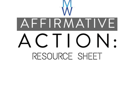 Affirmative Action Resource Sheet