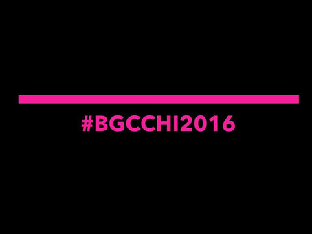 Welcome to Chicago! #BGCChi2016