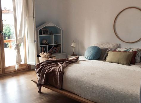 Los dormitorios.