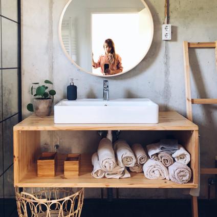 El cuarto de baño.