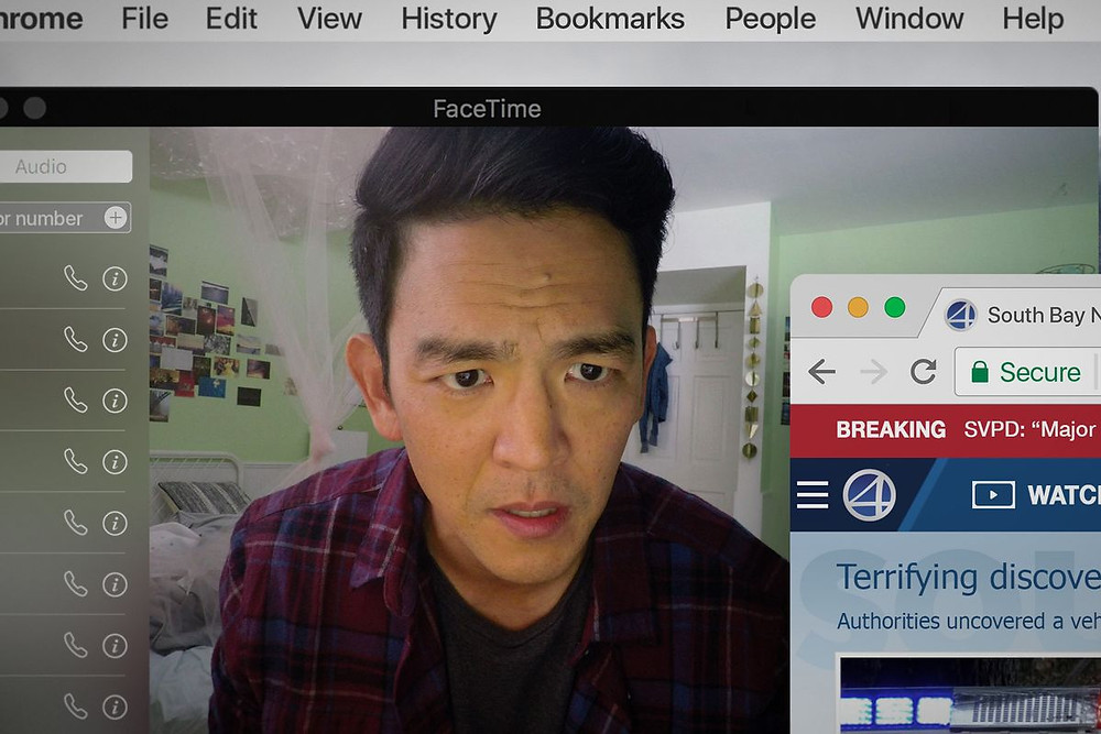 "John Cho in a scene from ""Searching"""